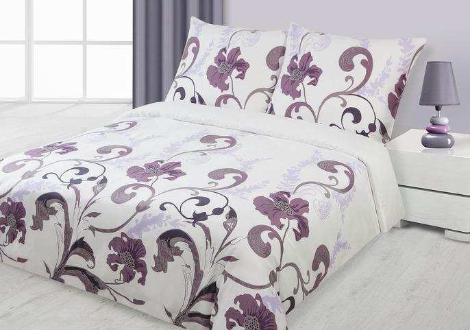 Saténové obliečky 200x220 GABI fialové