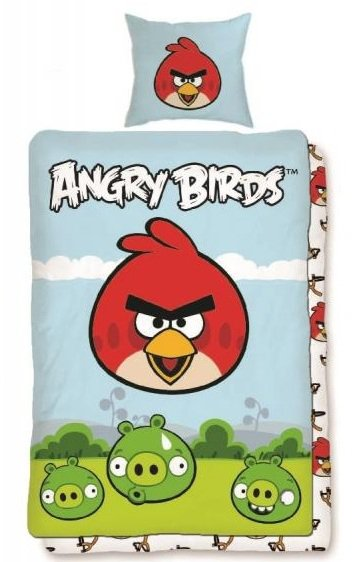 Detské obliečky 140x200 ANGRY BIRDS