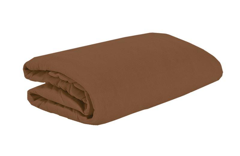 Jersey plachta 90x200 hnedá-čokoládová