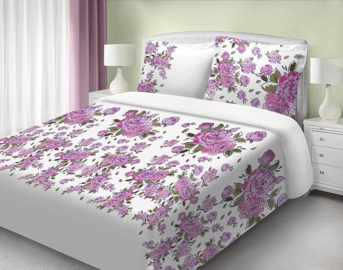 Saténové obliečky 200x220 LISA lila