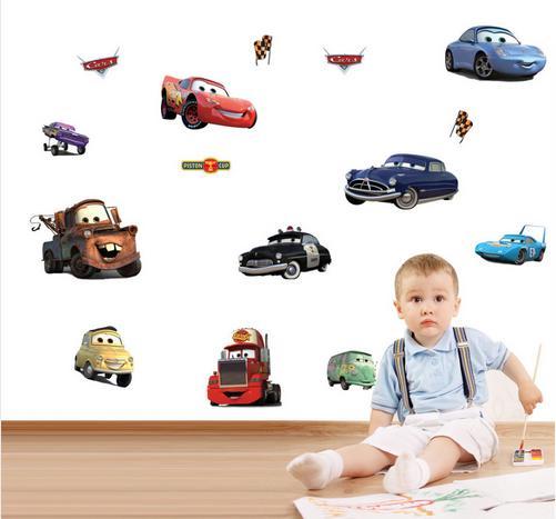 Nálepka na stenu CARS autá