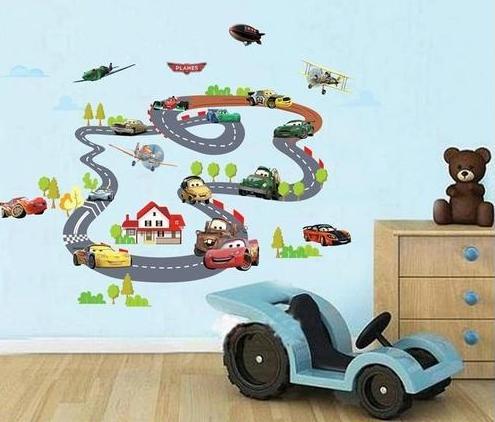 Nálepka na stenu CARS dráha