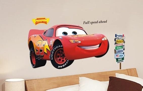 Nálepka na stenu CARS- McQuenn XXL