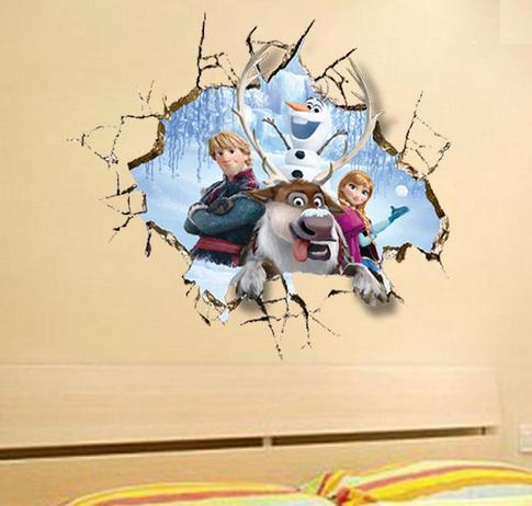 Nálepka na stenu FROZEN stena