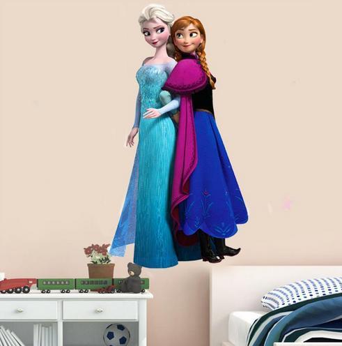 Nálepka na stenu FROZEN- Elza+Anna- XXL