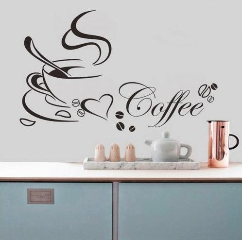 Nálepka na stenu COFFEE