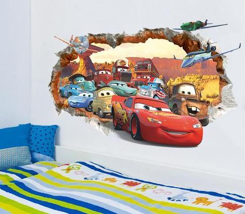 Nálepka na stenu CARS stena