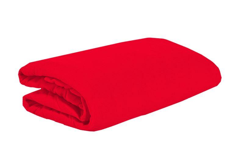 Jersey plachta 90x200 červená