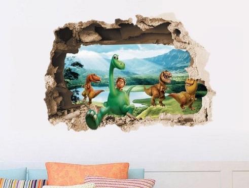 Nálepka na stenu DOBRÝ DINOSAURUS stena
