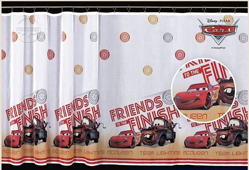 Detská záclona š.4m CARS priatelia