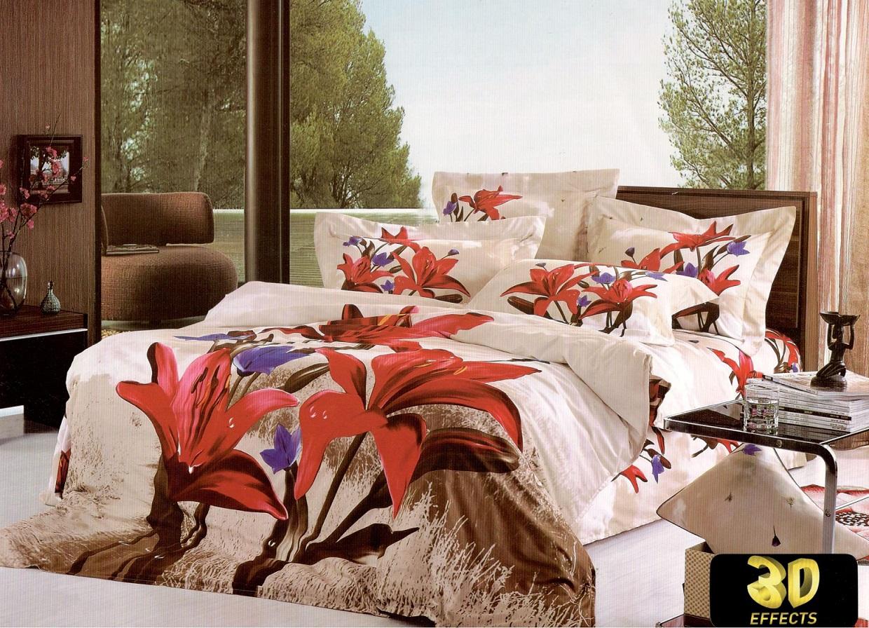 Bavlnené obliečky 3D-140x200 FLOWER