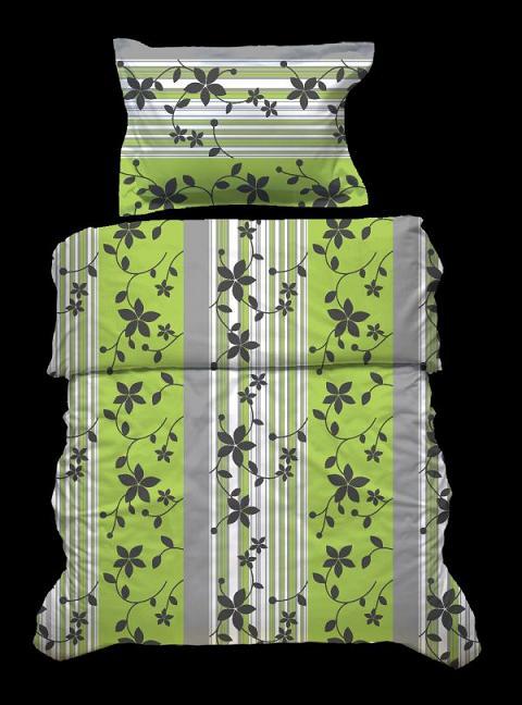 Bavlnené obliečky 140x200 LIANA zelená