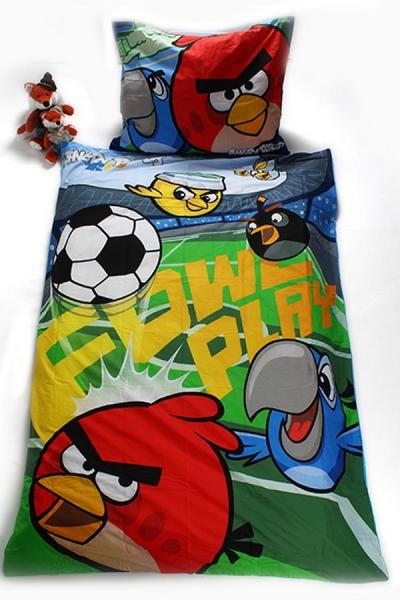 Detské obliečky 140x200 ANGRY BIRDS futbal