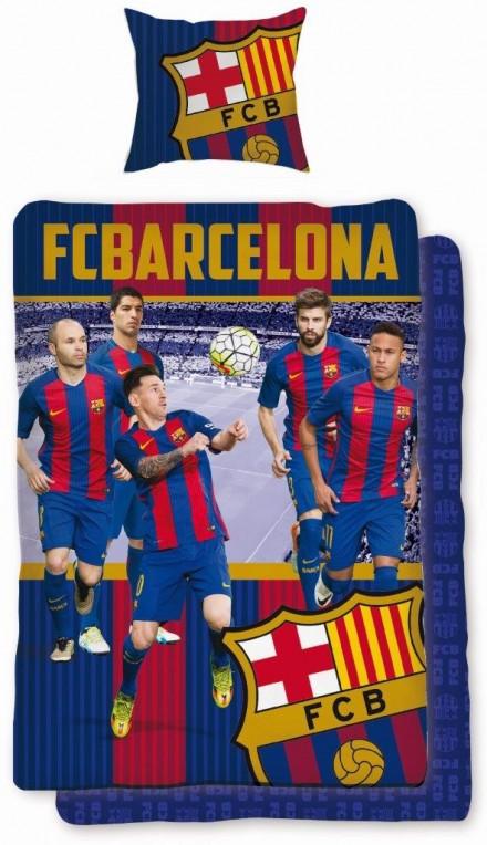 Detské obliečky 140x200 FC BARCELONA hráči 01