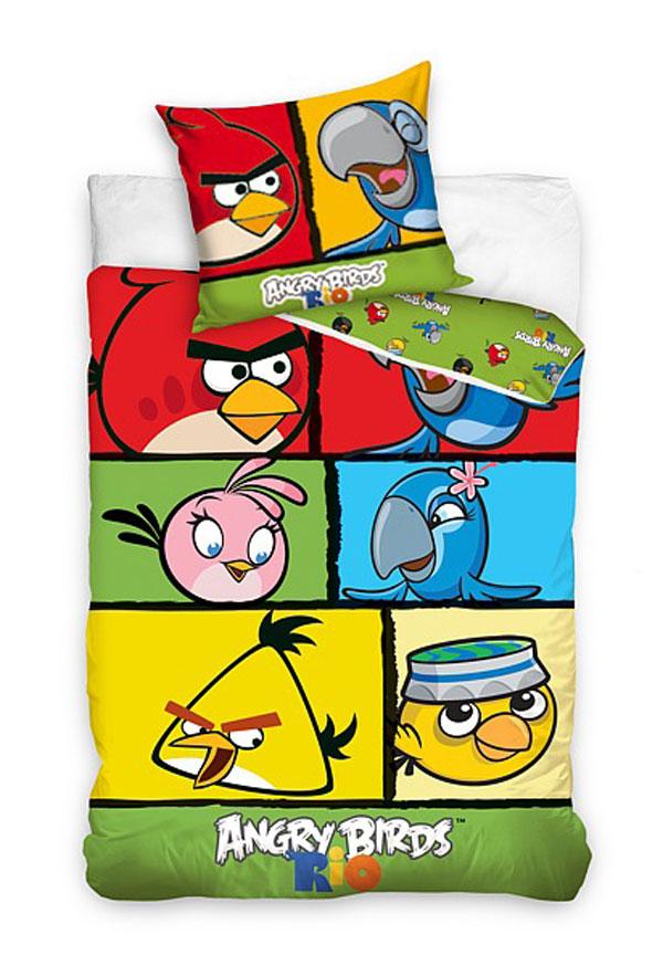Detské obliečky 140x200 ANGRY BIRDS rio